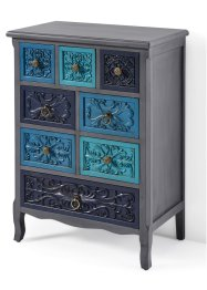 Commode Carolyn, bpc living, gris/bleu