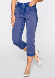 Pantalon extensible 3/4 aspect used, bpc bonprix collection, bleu violet used