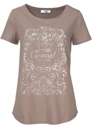 T-shirt demi-manches, bpc bonprix collection, taupe imprimé