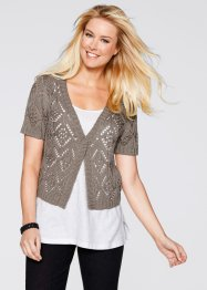 Gilet court, bpc bonprix collection, taupe