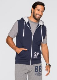 Gilet sweat sans manches Regular Fit, bpc bonprix collection, bleu foncé