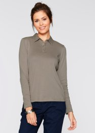 Polo manches longues, bpc bonprix collection, taupe