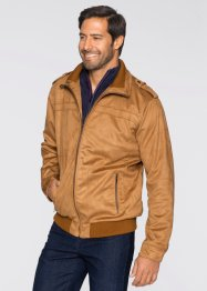 Blouson synthétique imitation cuir Regular Fit, bpc selection, cognac