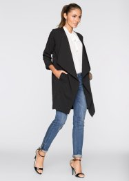 Blazer long, BODYFLIRT, noir