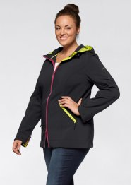 Veste softshell avec capuche, bpc bonprix collection, noir