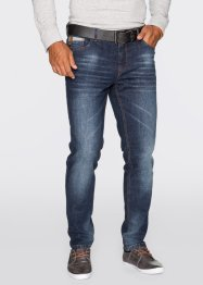 Jean extensible Slim Fit Tapered, John Baner JEANSWEAR, bleu moyen used