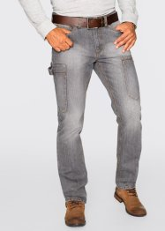 Jean cargo Regular Fit Straight, John Baner JEANSWEAR, gris moyen used
