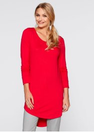 T-shirt long, manches longues, bpc bonprix collection, rouge