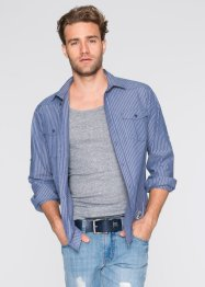 Chemise manches longues Regular Fit, John Baner JEANSWEAR, bleu jean rayé