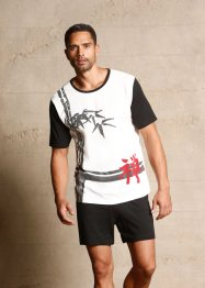 Pyjashort, bpc bonprix collection, noir imprimé