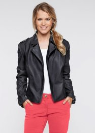 Veste en simili cuir, bpc bonprix collection, noir