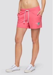 Lot de 2 shorts en sweat, bpc bonprix collection, fuchsia clair/anthracite chiné