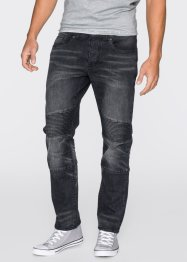 Jean extensible Slim Fit Straight, RAINBOW, noir denim