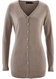 Gilet long en maille, bpc selection, taupe