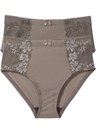 Lot de 2 slips modelants, bpc selection, taupe+taupe/champagne