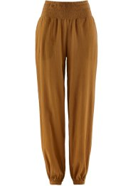 Pantalon sarouel froissé, bpc bonprix collection, daim
