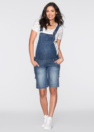 Salopette-short en jean de grossesse, bpc bonprix collection, bleu stone