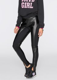 Pantalon avec imitation cuir Marcell von Berlin for bonprix, Marcell von Berlin for bonprix, noir