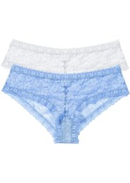Lot de 2 shorties, RAINBOW, bleu moyen+blanc