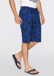 Bermuda Loose Fit, bpc bonprix collection, bleu gentiane imprimé