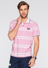 Polo Regular Fit, bpc selection, rose/blanc rayé