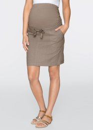 Jupe de grossesse en lin, bpc bonprix collection, taupe
