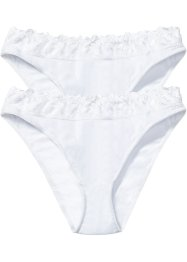 Lot de 2 slips, bpc bonprix collection, blanc