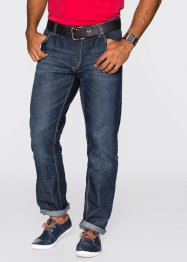 Jean retroussé Regular Fit Straight, John Baner JEANSWEAR, bleu foncé used