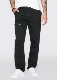 Pantalon cargo Regular Fit Straight, RAINBOW, noir