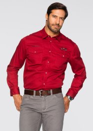 Chemise manches longues Regular Fit, bpc selection, rouge