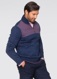 Pull camionneur Regular Fit, bpc selection, bleu foncé chiné