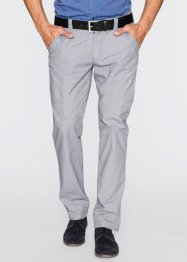 Pantalon chino Regular Fit Straight, bpc bonprix collection, indigo/blanc imprimé