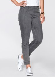Legging en jean slim, bpc bonprix collection, gris denim