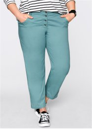 Pantalon chino 7/8 paper touch, ample, bpc bonprix collection, bleu minéral