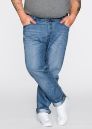 Jean Slim Fit Straight, RAINBOW, medium bleu bleached