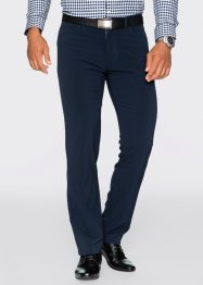 Pantalon ceramica Regular Fit Straight, bpc selection, bleu foncé