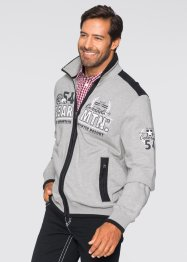 Gilet sweat-shirt Regular Fit, bpc selection, gris clair chiné