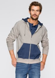 Gilet sweat Regular Fit, John Baner JEANSWEAR, grès/indigo