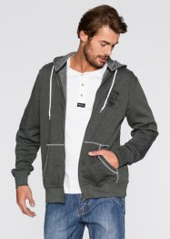 Gilet sweat-shirt Regular Fit, John Baner JEANSWEAR, anthracite chiné
