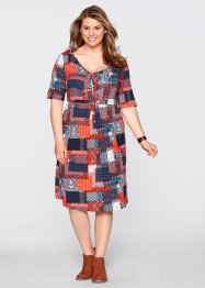 Robe mi-manches, bpc bonprix collection, bleu atlantique
