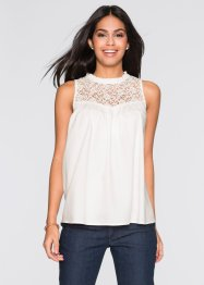 Top-blouse, BODYFLIRT, blanc cassé