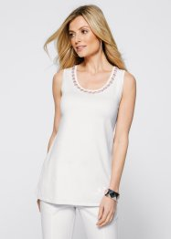 Top long en maille, bpc selection, blanc cassé