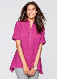Blouse base en pointe, manches 3/4, bpc bonprix collection, fuchsia
