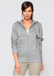 Gilet sweatshirt, bpc bonprix collection, gris clair chiné
