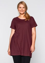 T-shirt long boxy, manches courtes, bpc bonprix collection, rouge érable