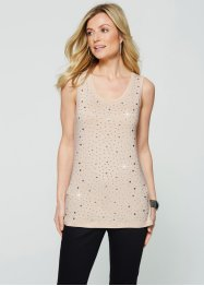Top, bpc selection, beige galet/argenté