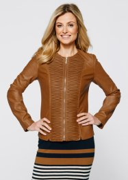 Veste synthétique imitation cuir, bpc selection, bronze