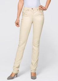 Pantalon extensible avec application, bpc selection, beige galet