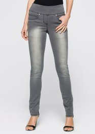 Jean super extensible à taille confortable, bpc selection, gris denim