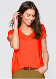 T-shirt jersey manches courtes, bpc bonprix collection, rouge mandarine